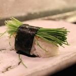 名登利寿司 - 芽ねぎ