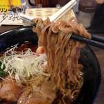 らーめん処 玄庵 - 玄麺のそば粉30%入り麺