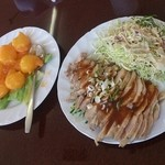 鴻運 - エビチリ、棒々鶏