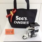 シーズキャンディーズ - ロゴが可愛い保冷バッグの登場です♪お弁当もすっぽり入る、ポケット付きの優れもの♪