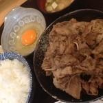 大市 - ランチ「牛すき定食」¥700
