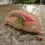 """第三春美鮨 - """"天然""""シマアジ 1.6k 定置網漁 三重県和具 二週連続でシマアジ しかも和具 ちょっと小さ目"""