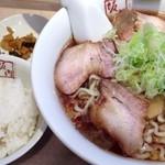 坂内 - 和風冷しラーメン大盛り780円+サービスライス&お漬物0円