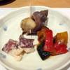 仙川寿司 - 料理写真:お通し:ツブ貝、タコタラマヨ、カポナータ