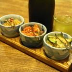 塩梅 - 2013.6 切干大根、キムチ、大根とキュウリの醤油漬