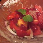 鳥良 - トマトのワインジュレ(\580-)