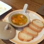 スペイン食堂 - 海老のアヒージョ