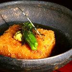 田舎 - ◆揚げ豆腐の変わりあんかけ 700円