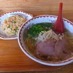 小洞天 - 料理写真:塩ラーメン半チャンセット850円