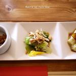 鸞鳳 - 前菜三種盛り