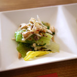 鸞鳳 - チンゲン菜と鶏ササミのマスタードソース和え