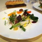 レストラン・アスペルジュ - 美瑛の畑 20種類の野菜と美瑛産ななつぼしを添えたサラダ