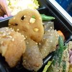ふるさと料理 福膳 - 2013.06 煮物、野菜と鶏肉です:丸!