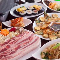 韓国料理 シンガネ - 贅沢サムギョプサルと本場の料理を含めた宴会コースもご用意しております!