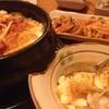 イムさんの韓国料理 - 料理写真:豆腐チゲ  小さいお鍋なのに何故かとってもボリューミー