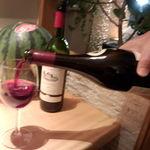 山麓カフェ - 赤ワイン(ピノ・ノアール』を頂く♪