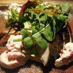 タヴェルネッタ・ダ・キタヤマ - 千葉県産サバのマリネとアボカドのテッリーナ。