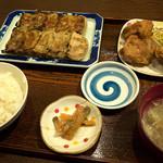 チャイナ食堂かしん - 「餃子セット」(600円)焼バージョン。