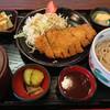 久兵衛 - 料理写真:ボリューム満点のとんかつ定食は840円