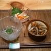 たんぼ居酒屋 - 料理写真:付き出し(ジュンサイ、南蛮漬け、きんぴら)
