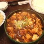 味仙 - ランチ。麻婆豆腐。山椒キツ過ぎ。