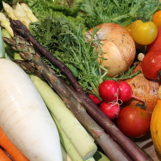 季節の野菜たっぷり
