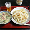あそび - 料理写真:冷や汁うどん(750円)+ビンビール700円