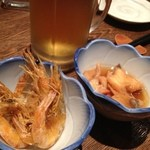 Shin‐和 dining - お通しとビール