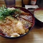 まぐろナルド - 「海鮮づけ丼」1,000円也。税込。