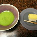 浅田屋 - お部屋で頂いたお抹茶と生菓子