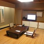 浅田屋 - 宿泊したお部屋。夏らしい涼やかな設え