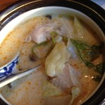 19977725 - 鶏肉のココナッツスープ
