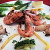 フィッシュタヴェルナサンボ - 料理写真:海老と島野菜の焼き物