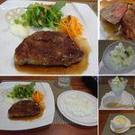カフェまつもと - 特産松阪牛ランプステーキ。但馬牛を素牛として900日以上管内で肥育