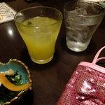 菜蔵 - すてきなマンゴー酒:504円+黒霧島:504円