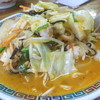 はねやま - 料理写真:もつ鍋ちゃんぽん¥850。辛くて、ホルモンがプルプルで、すごくおいしいです!
