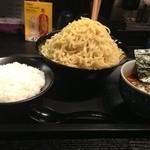 麺屋永吉 花鳥風月 - カリーつけ麺トリプル盛り、大ライス。
