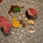 福島 もう利 - 山形牛の三角ステーキ