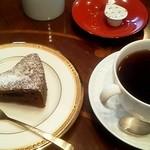 書斎珈琲 - 料理写真:コーヒー(プチケーキ付) 550円