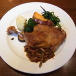 ラ・テール・メゾン - フランス産鴨肉のコンフィ 有機野菜のガルニチュールを添えて¥1260