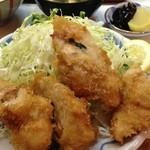 季節料理 西田 - ササミフライ定食梅シソ入り(650円)