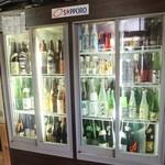 ヤン衆漁場居酒屋カネイワ昌栄丸 - 日本酒冷蔵庫