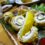 いわしや自来也 - いわしのチーズ巻き揚げ650円