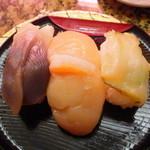 回転寿司 トピカル - 貝セット(ホッキ・ホタテ・つぶ)