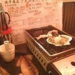浜焼き酒場波平商店 - 福島到着後すぐに波平商店に(≧∇≦)上着がないと寒いです(^_^