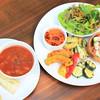 ハローカフェ - 料理写真:「季節の野菜ランチプレート」新鮮な野菜や豆を中心にしたベジプレート。 5〜6種類のデリが楽しめます。 スープ、コーヒー又は紅茶、デザート付き。