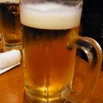 焼肉 山河 - ビール