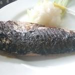 梅月食堂 - 焼き魚定食 サバアップ