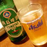 中華粥 香港ロジ - チンタオビール