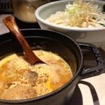 ほそ道 - 味玉入りカレーつけ麺